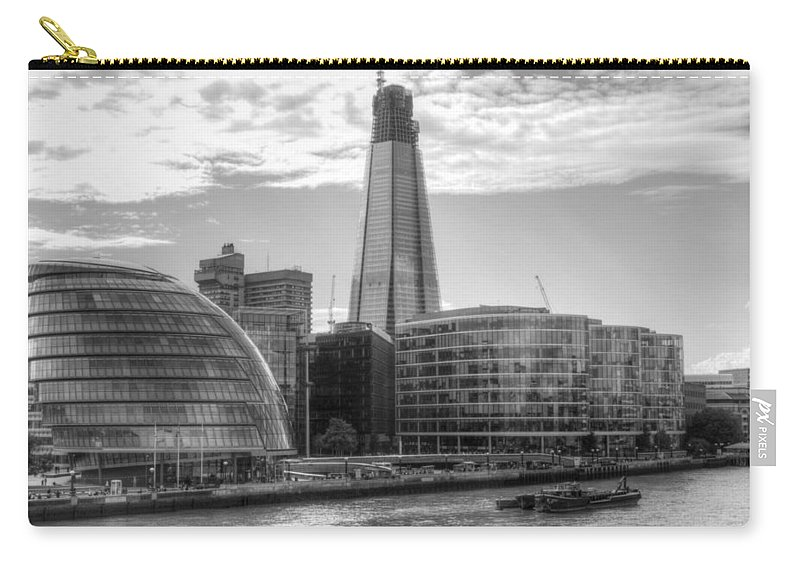 Shard Carry-all Pouch featuring the photograph London Assembly and Shard by Chris Day
