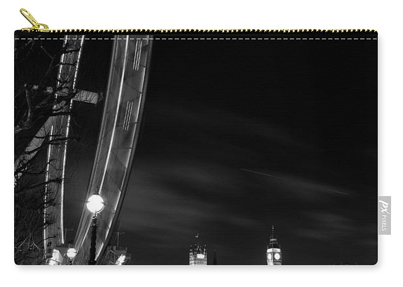 London Eye Carry-all Pouch featuring the photograph London Eye And London View by David Pyatt