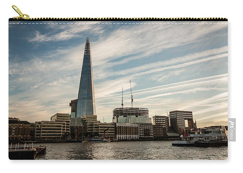 River Thames Carry-all Pouch featuring the photograph London Skyline Sunset by Dawn OConnor