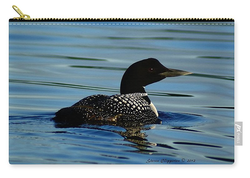 Loon Carry-all Pouch featuring the photograph Loon 2 by Steven Clipperton