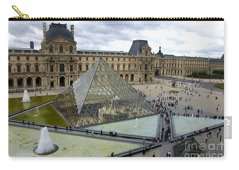 Paris Carry-all Pouch featuring the photograph Louvre Museum. Paris by Bernard Jaubert