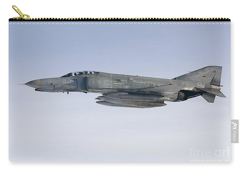 F-4 Phantom Carry-all Pouch featuring the photograph Luftwaffe F-4f Phantom II by Gert Kromhout