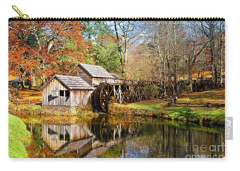Blue Ridge Parkway Carry-all Pouch featuring the photograph Mabry Mill by Ronald Lutz