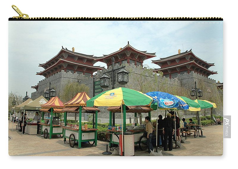Macau Carry-all Pouch featuring the photograph Macau Fisherman's Wharf by Valentino Visentini