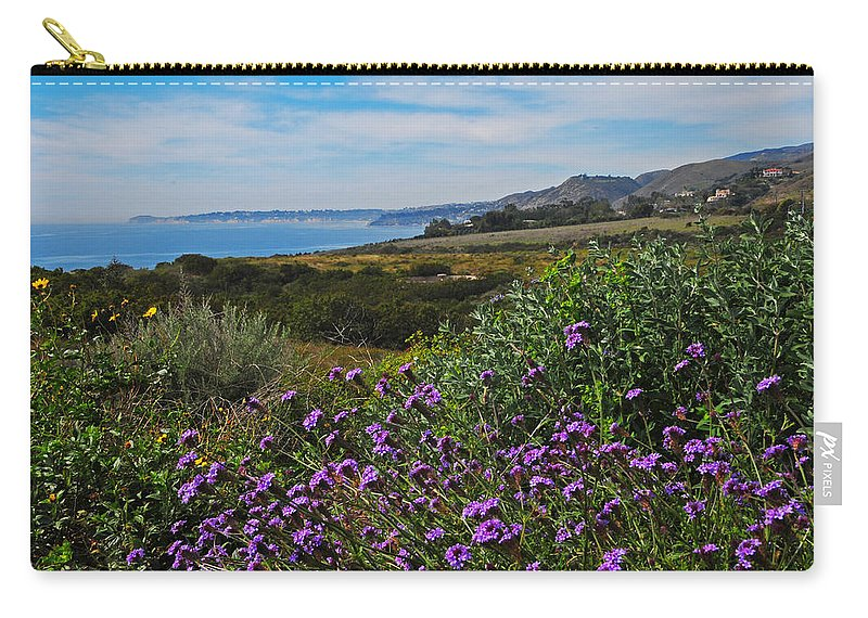 Carry-all Pouch featuring the photograph Malibu by Lynn Bauer
