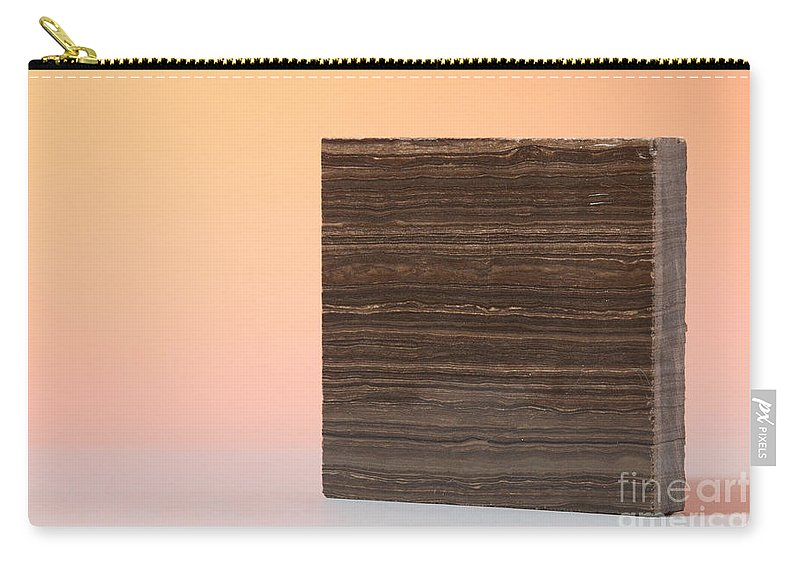 Marron Grecale Carry-all Pouch featuring the photograph Marron Grecale Marble by Photo Researchers, Inc.