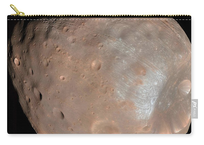 View From Space Carry-all Pouch featuring the photograph Mars Moon Phobos by Stocktrek Images