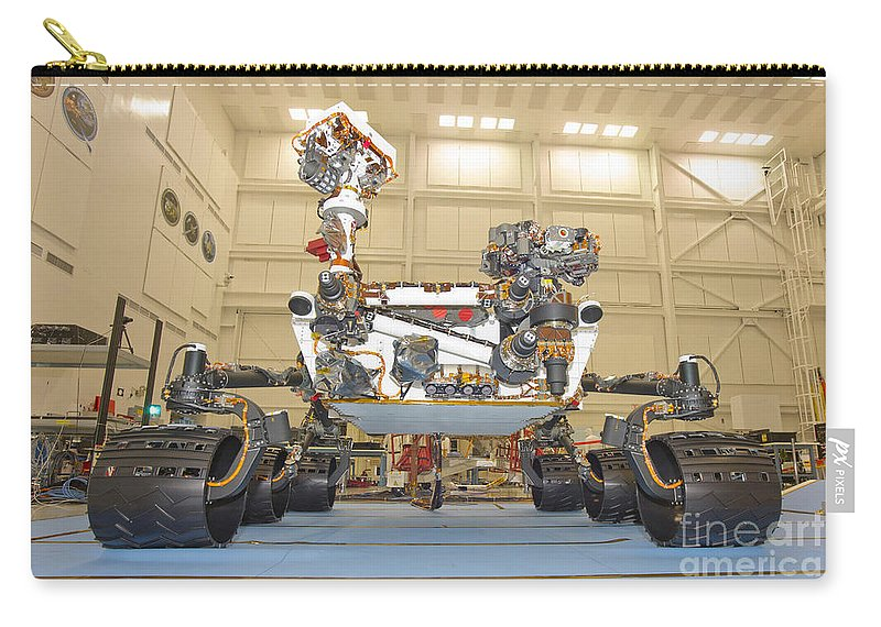 Development Carry-all Pouch featuring the photograph Mars Science Laboratory Rover by Stocktrek Images