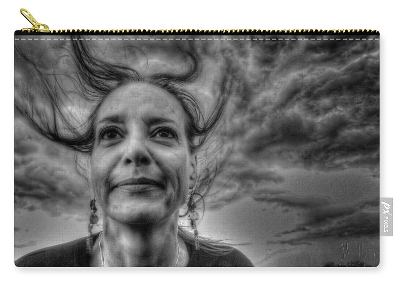 Country Carry-all Pouch featuring the photograph May-belle Chasing The Wind by John Herzog