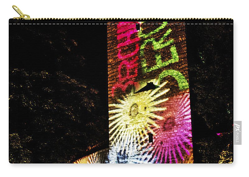 Night Carry-all Pouch featuring the photograph Medieval And Modern Times by Heiko Koehrer-Wagner