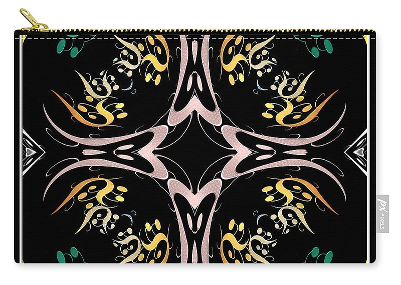Metallics Carry-all Pouch featuring the photograph Metallic Flourishes Warp 2 by Rose Santuci-Sofranko