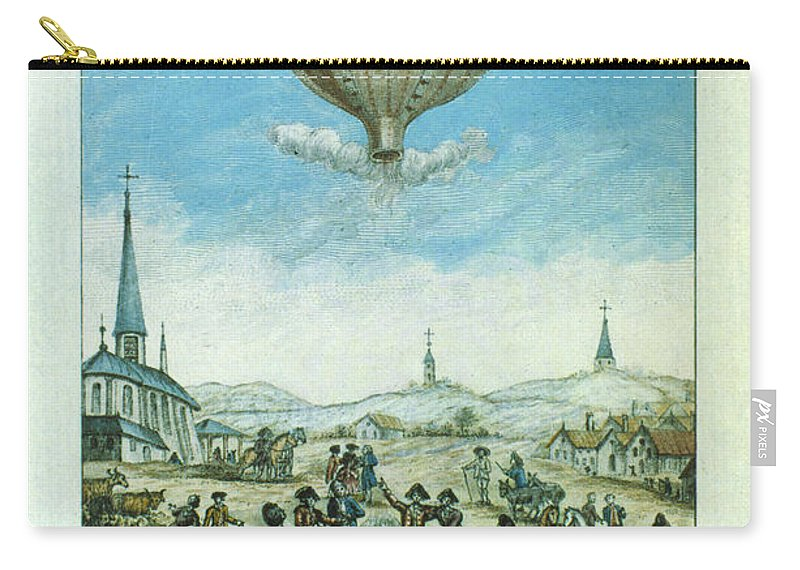1783 Carry-all Pouch featuring the photograph Montgolfier Balloon by Granger