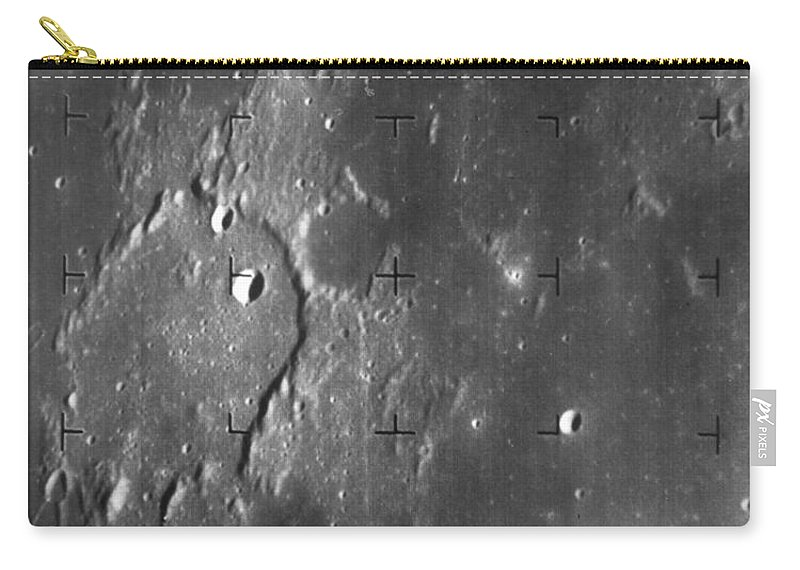1964 Carry-all Pouch featuring the photograph Moon: Ranger 7, 1964 by Granger