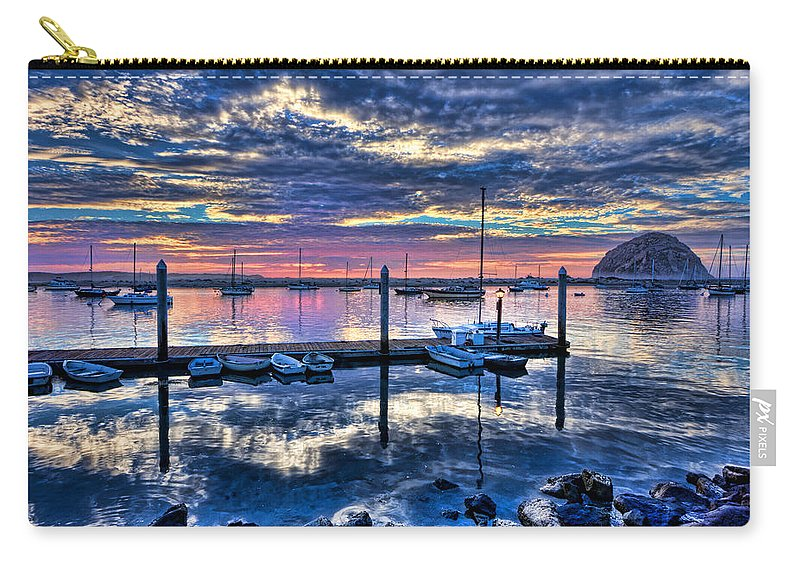 Storm Carry-all Pouch featuring the photograph Morro Bay Wonder by Beth Sargent