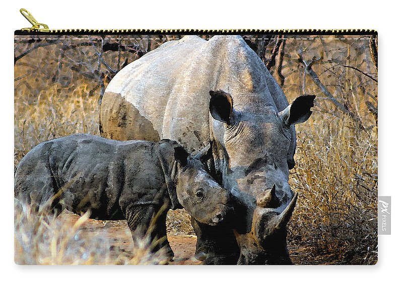Africa Carry-all Pouch featuring the photograph Mother And Child by Paul Fell