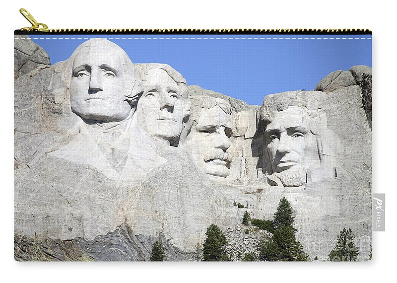 Carving Carry-all Pouch featuring the photograph Mount Rushmore National Memorial, South by Richard Roscoe