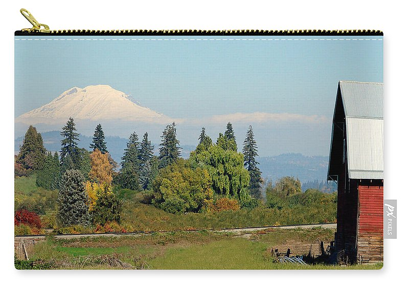 Mount Adams Carry-all Pouch featuring the photograph Mt. Adams In The Country by Athena Mckinzie