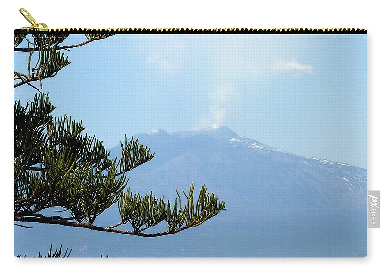 Mt. Carry-all Pouch featuring the photograph Mt. Etna by Carla Parris
