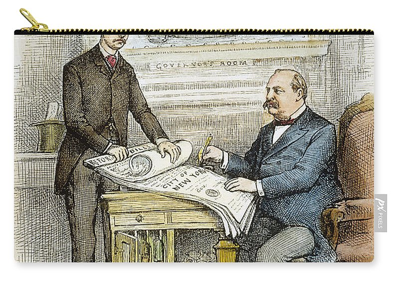 1884 Carry-all Pouch featuring the photograph Nast: Civil Service Reform by Granger