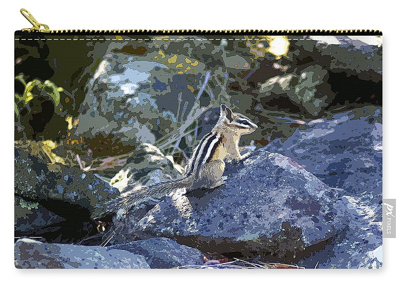 Chipmunks Carry-all Pouch featuring the photograph Natural Beauty by Ben Upham III