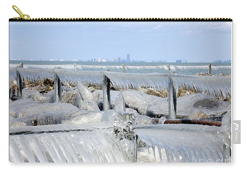 Winter Carry-all Pouch featuring the photograph Natures Ice Sculptures 12 by Rose Santuci-Sofranko