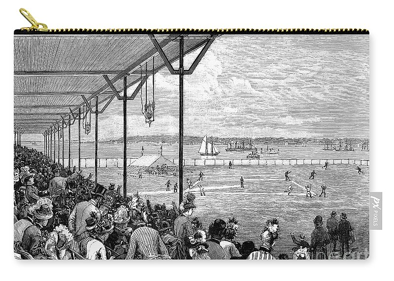1886 Carry-all Pouch featuring the photograph New York: Baseball, 1886 by Granger