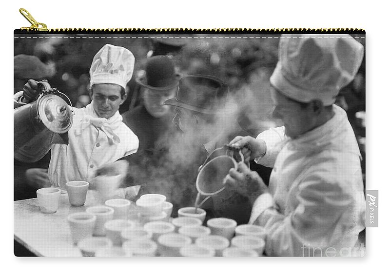 1915 Carry-all Pouch featuring the photograph New York: Bread Line, 1915 by Granger