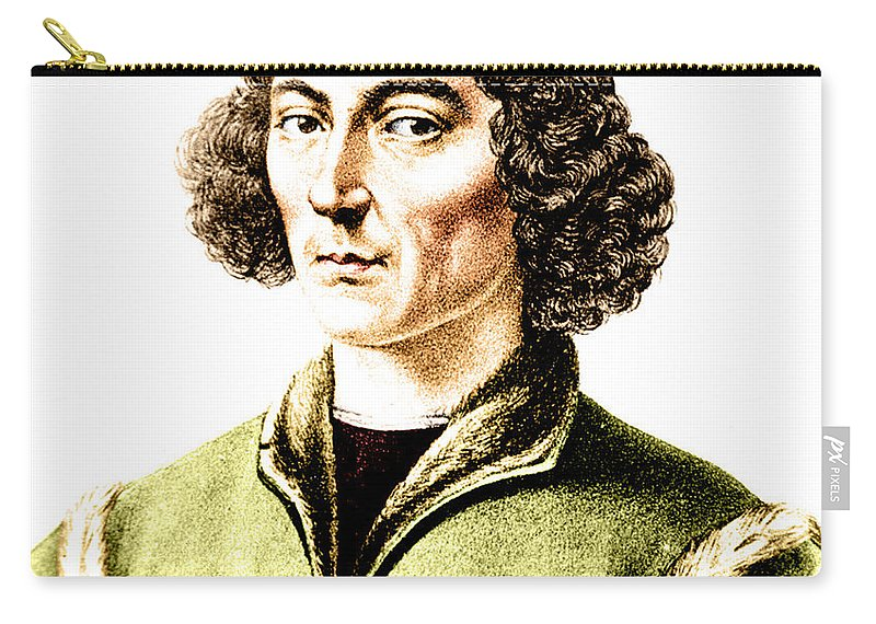 History Carry-all Pouch featuring the photograph Nicolaus Copernicus, Polish Astronomer by Science Source