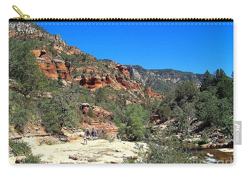 Oak Creek Carry-all Pouch featuring the photograph Oak Creek Canyon by Charles Robinson