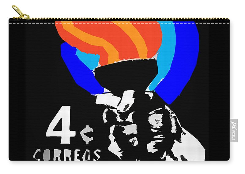 Old Cuban Postage Stamp Carry-all Pouch featuring the photograph old Cuban postage stamp by James Hill