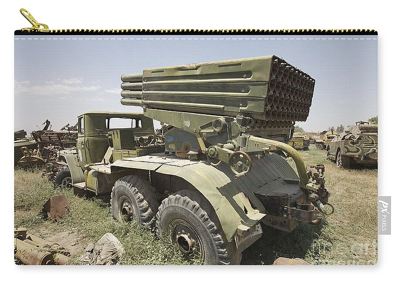 Army Carry-all Pouch featuring the photograph Old Russian Bm-21 Launch Vehicle by Terry Moore