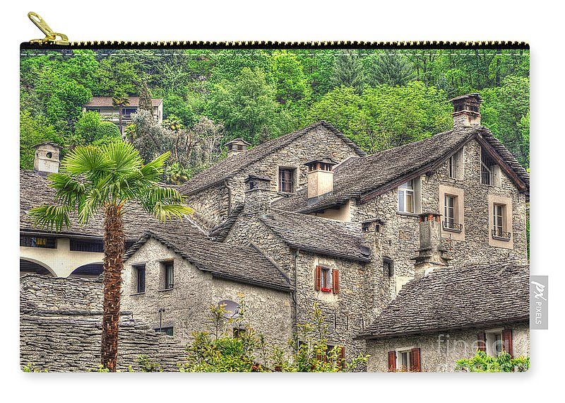 Old Carry-all Pouch featuring the photograph Old Rustic Village by Mats Silvan