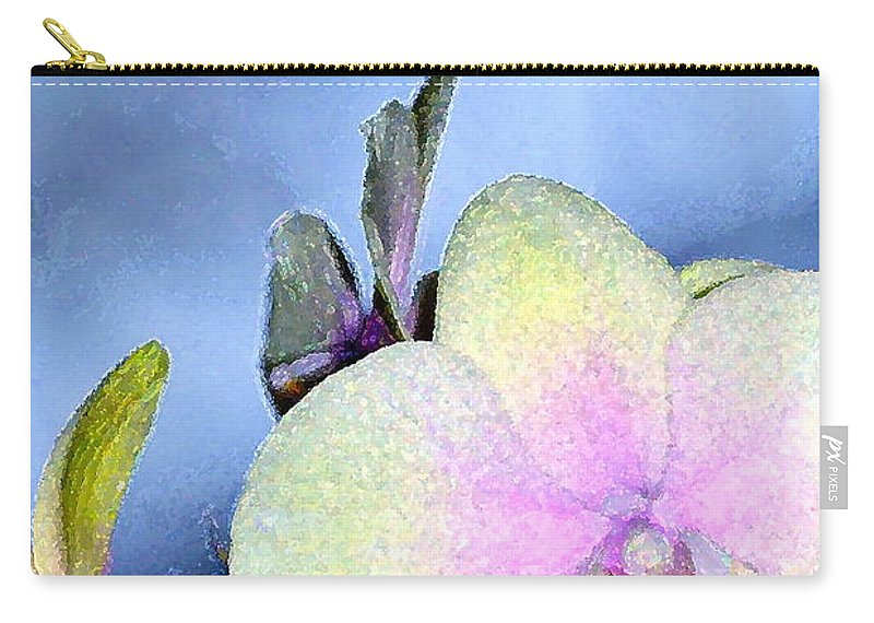 Floral Carry-all Pouch featuring the photograph Orchid 1 by Pamela Cooper