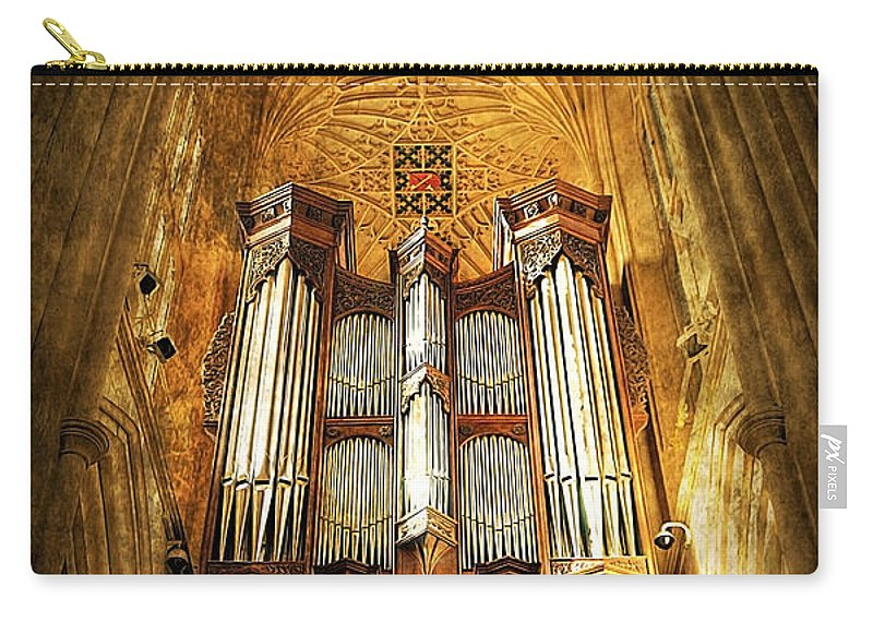Abbey Carry-all Pouch featuring the photograph Organ by Svetlana Sewell