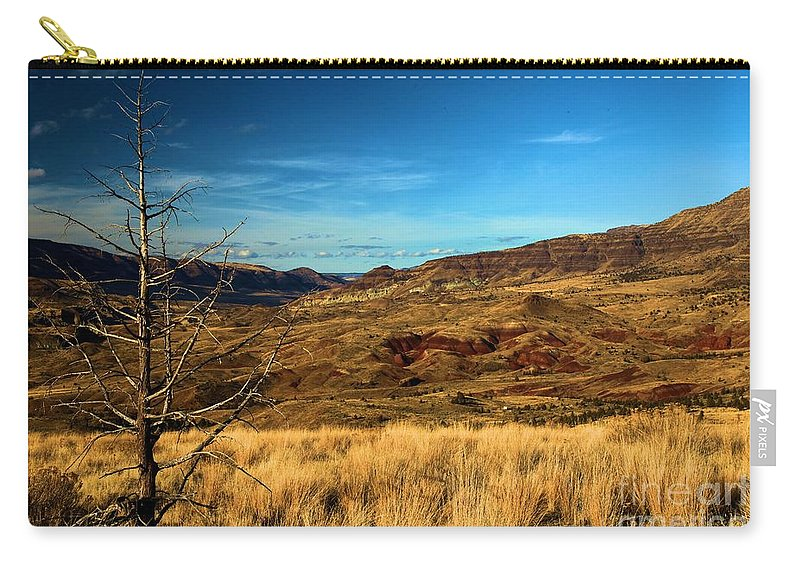 John Day Fossil Beds National Monument Carry-all Pouch featuring the photograph Painted Hills Landscape by Adam Jewell