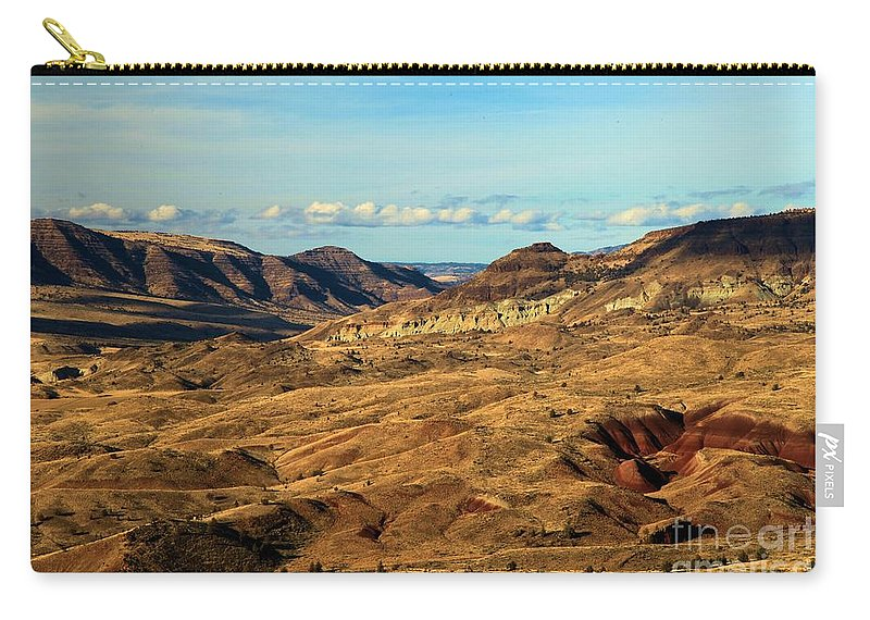 John Day Fossil Beds National Monument Carry-all Pouch featuring the photograph Painted Landscape by Adam Jewell