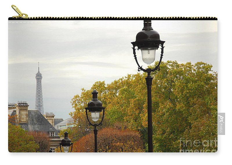 Building Carry-all Pouch featuring the photograph Paris Street by Elena Elisseeva