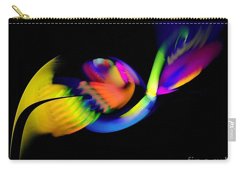 Parrot Carry-all Pouch featuring the digital art Parrot by Klara Acel