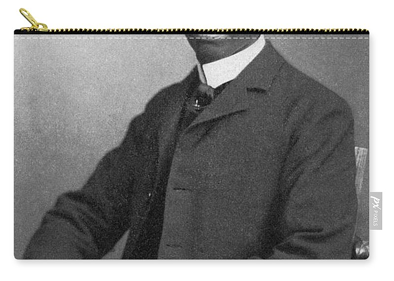 1900 Carry-all Pouch featuring the photograph Paul L. Dunbar (1872-1906) by Granger