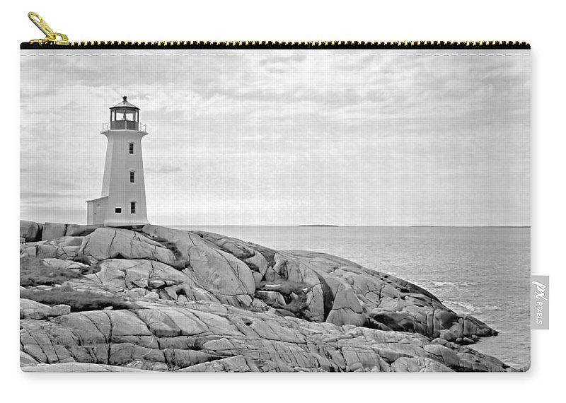 Lighthouse Carry-all Pouch featuring the photograph Peggy's Point Lighthouse by Kristin Elmquist