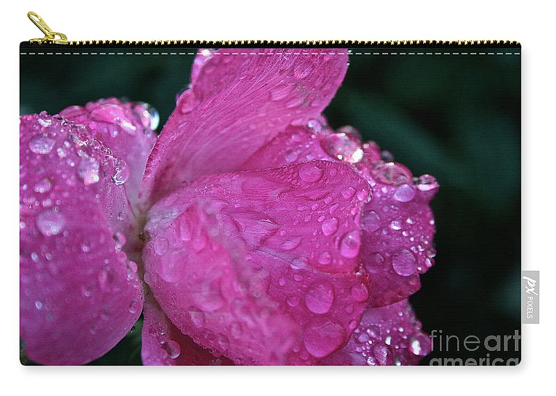 Landscape Carry-all Pouch featuring the photograph Petal Bling by Susan Herber