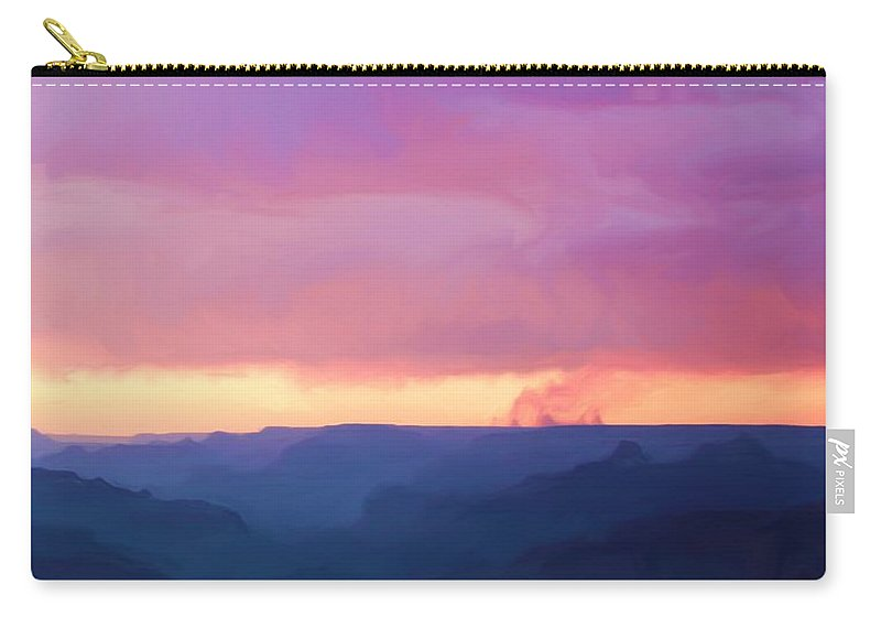 Pink Carry-all Pouch featuring the photograph Pink Smoke Rises by Heidi Smith