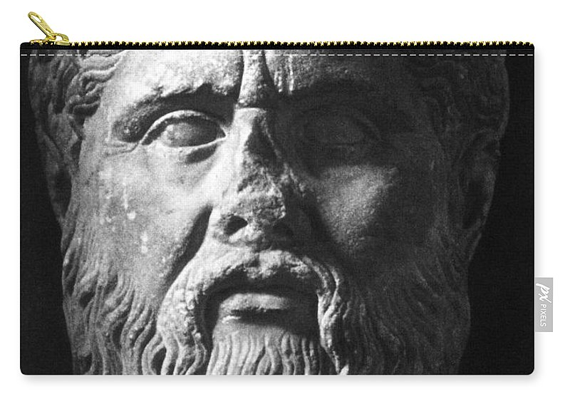4th Century B.c Carry-all Pouch featuring the photograph Plato (c427 B.c.-c347 B.c.) by Granger