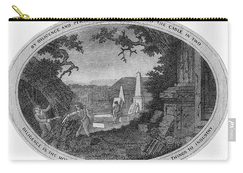 18th Century Carry-all Pouch featuring the photograph Poor Richard Illustrated by Granger