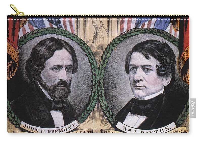 1856 Carry-all Pouch featuring the photograph Presidential Campaign, 1856 by Granger