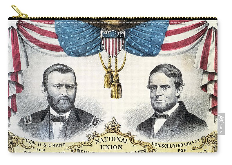 1868 Carry-all Pouch featuring the photograph Presidential Campaign, 1868 by Granger