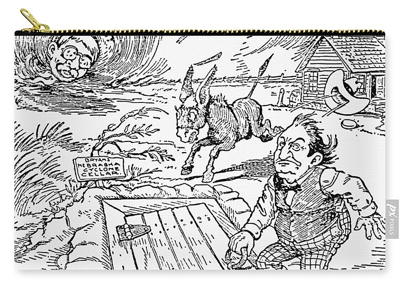 1900 Carry-all Pouch featuring the photograph Presidential Campaign, 1900 by Granger