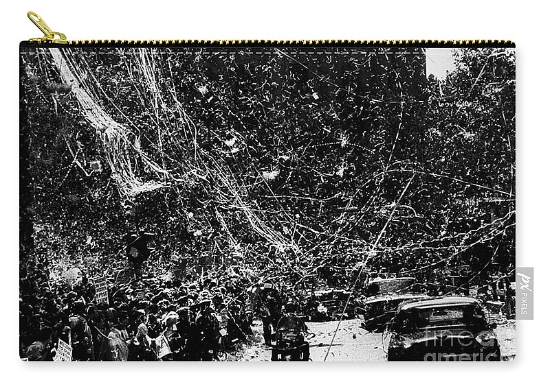 1960 Carry-all Pouch featuring the photograph Presidential Campaign, 1960 by Granger