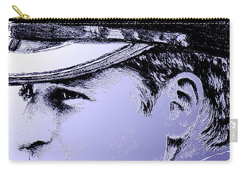 Prince William Carry-all Pouch featuring the digital art Prince William In 2011 by J McCombie