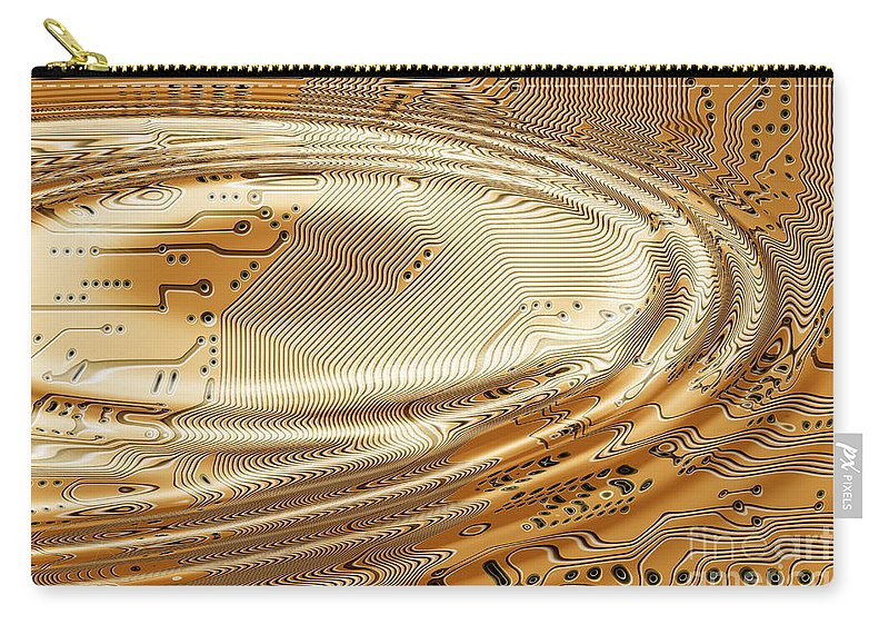 Printed Carry-all Pouch featuring the digital art Printed Circuit by Michal Boubin